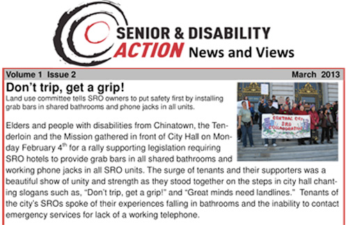 Get a grip! story from SDA's newsletter