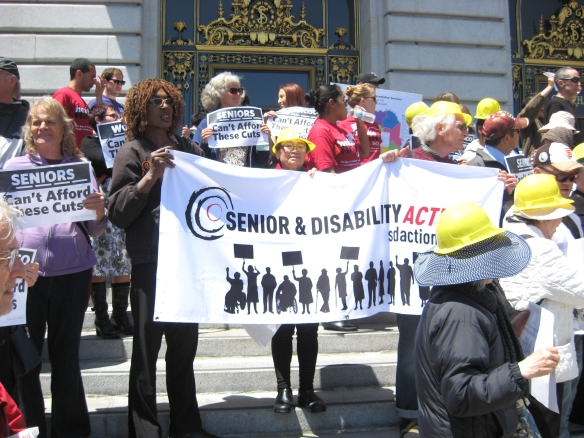 Budget Action at SF City Hall May 2013