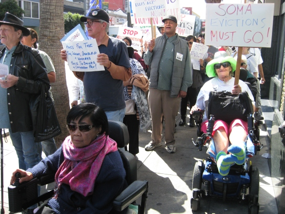 Sam Alicia Duke and others at the SOMAtime housing action